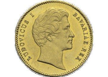 """Die Vorderseite der Goldmünze """"Ludwig I."""""""