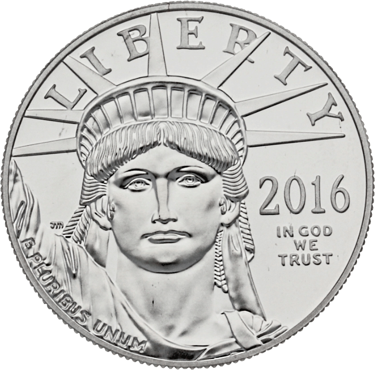 100 USD Platinmünze USA Eagle 2016 PP