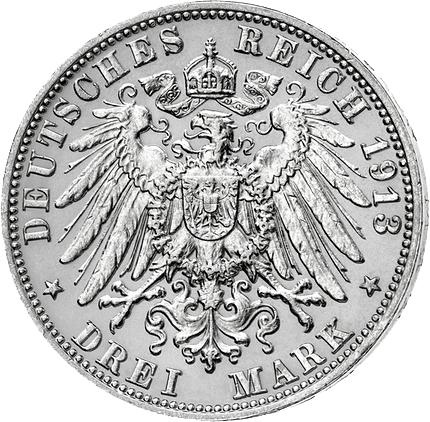 J 175 3 Mark 1908 1914 Württemberg Wilhelm Ii Ss Münzen Günstigerde