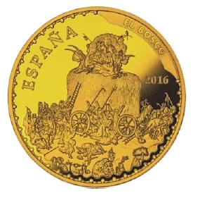 400 Euro Goldmünze Spanien 500 Geburtstag Hieronymus Bosch 2016 Pp