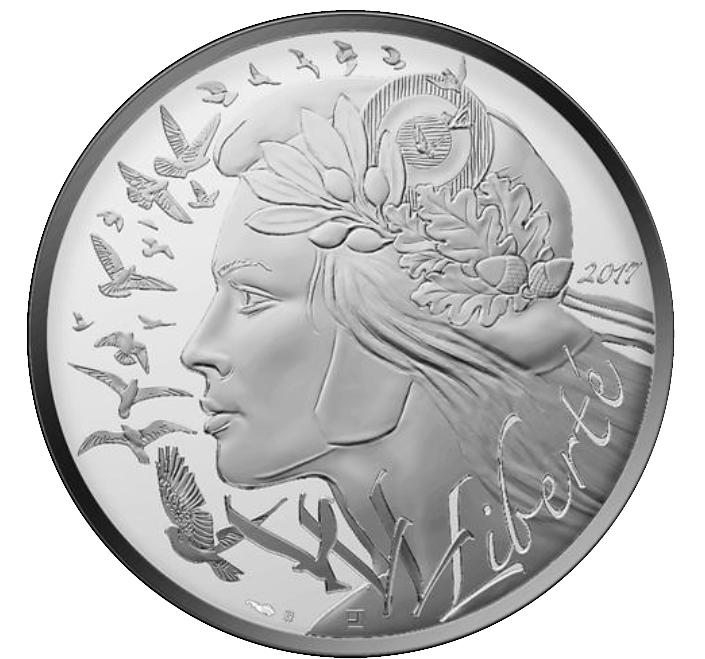 20 Euro Silbermünze Frankreich Marianne 2017 Polierte Platte Mit
