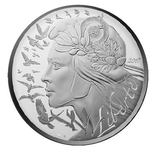 100 Euro Silbermünze Frankreich Marianne 2017 Ag Bfr Münzen