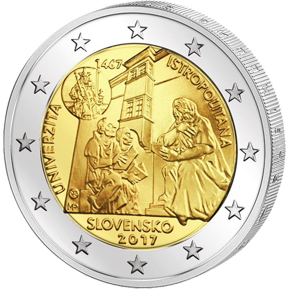 2 Euro Münze Slowakei 550 Jahre Universität Istropolitana 2017 Bfr