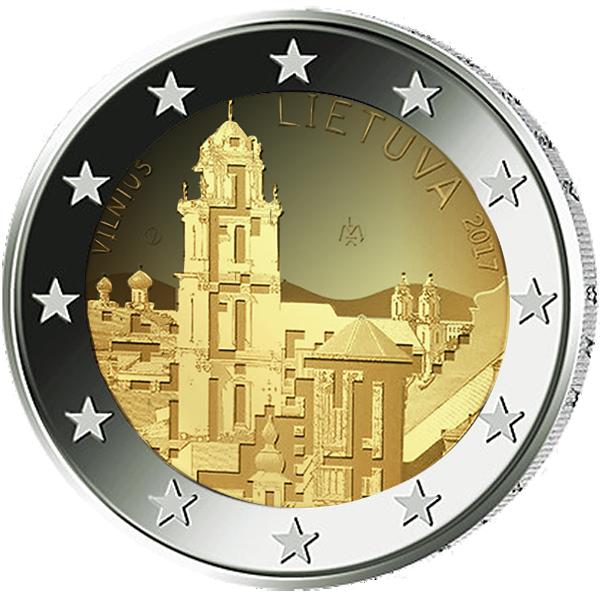 2 Euro Münze Litauen Vilnius 2017 Bfr Münzen Günstigerde