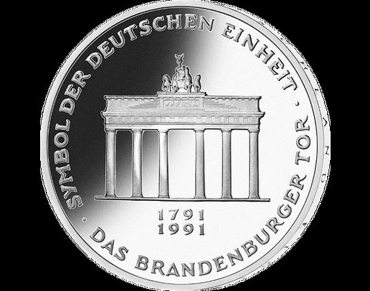10 Dm Münze 1991 200 Jahre Brandenburger Tor Mdm Deutsche Münze