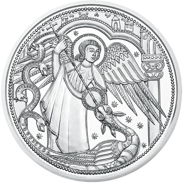 10 Euro Silbermünze österreich Himmlische Boten Michael Der
