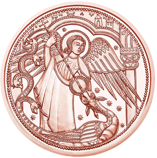 10 Euro Kupfermünze österreich Himmlische Boten Michael Der