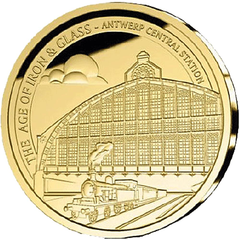 50 Eur Goldmünze Belgien Eisen Glas 2017 Pp Münzen Günstigerde