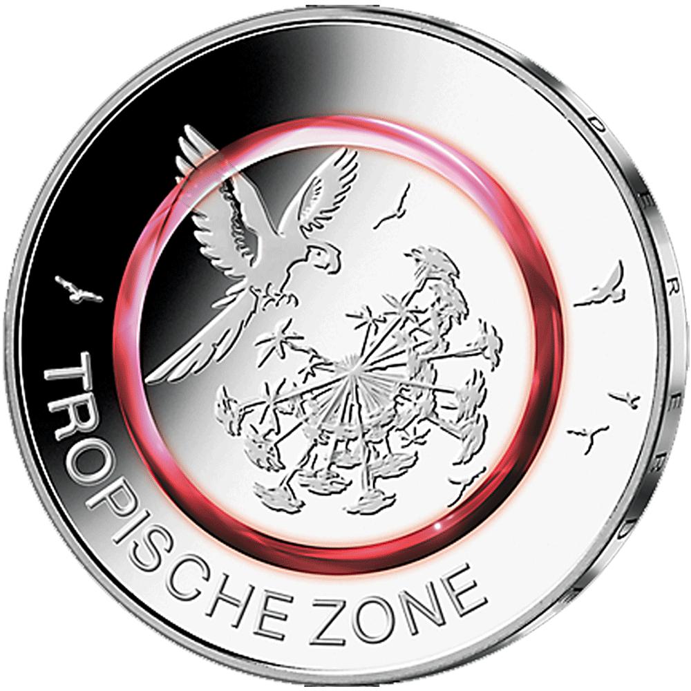 5 Euro Münze Brd 2017 Tropische Zone Pp Münzen Günstigerde
