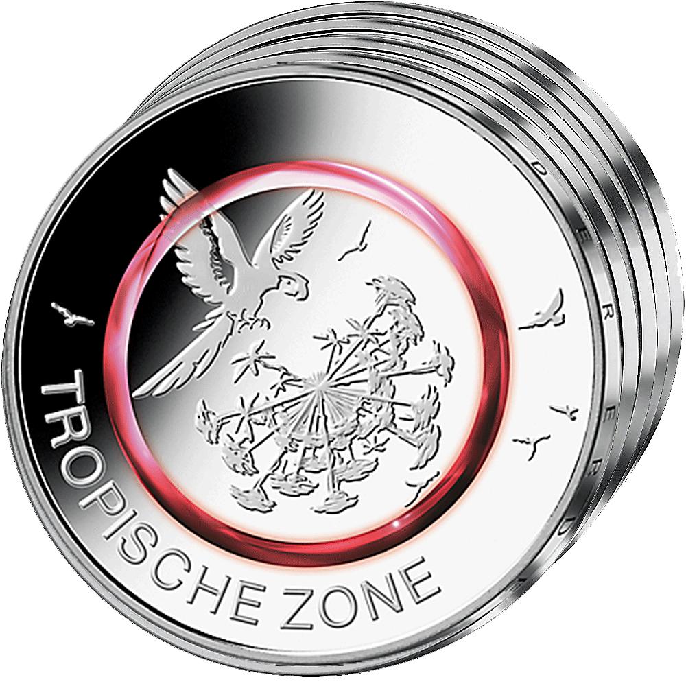 5 Euro Münze Brd 2017 Tropische Zone Komplettsatz Adfgj Pp Münzen