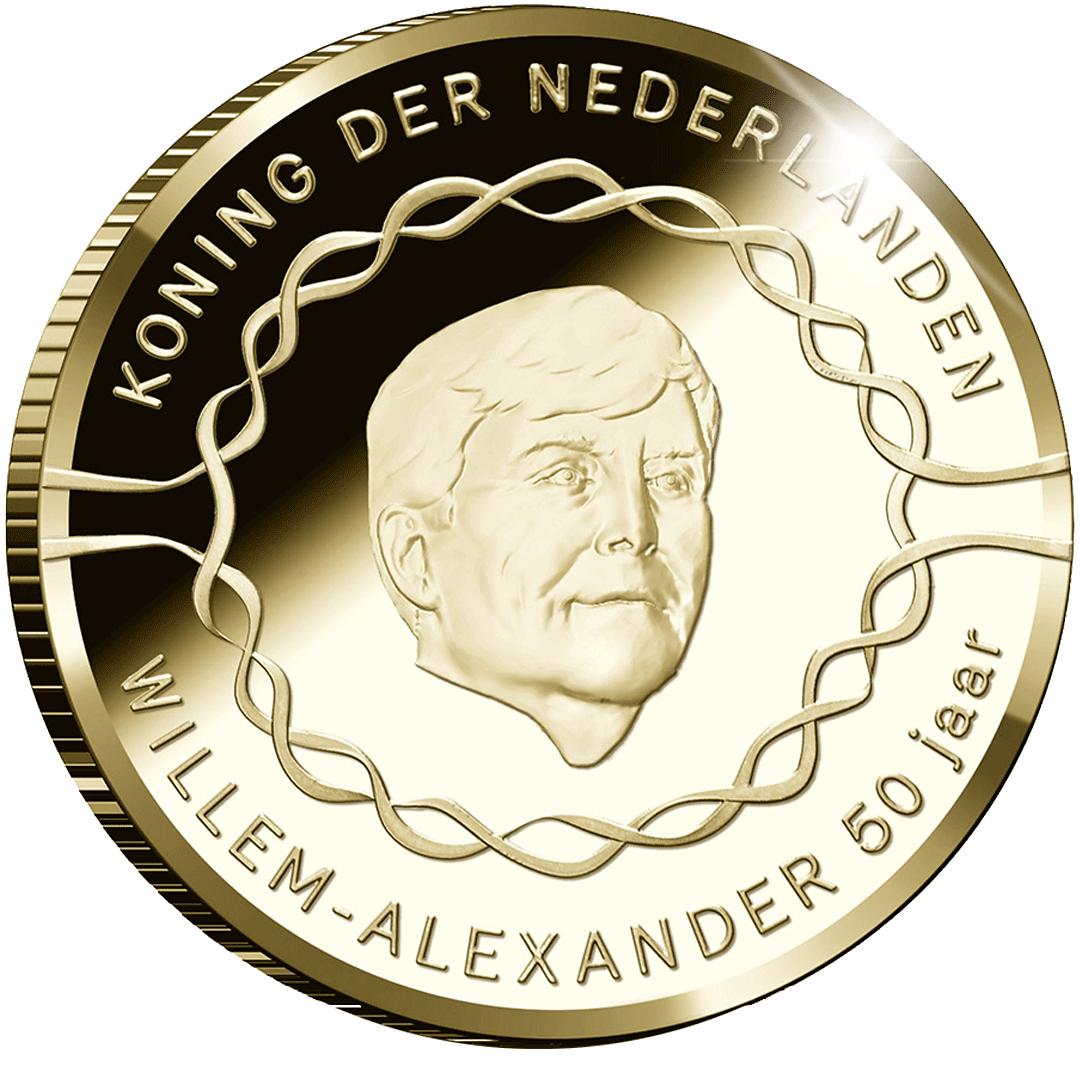 20 Euro Goldmünze Niederlande 50 Geburtstag Von König Willem