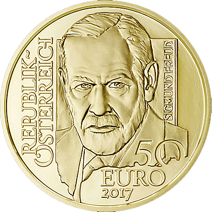 50 Euro Goldmünze österreich Sigmund Freud 2017 Pp Münzen Günstigerde