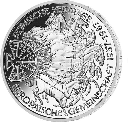 10 Dm Silber Münze 30 Jahre Eg 1987 10 Dm Münzen Dm Münzen