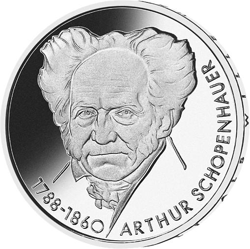 10 Dm Silber Münze Arthur Schopenhauer 1988 10 Dm Münzen Dm