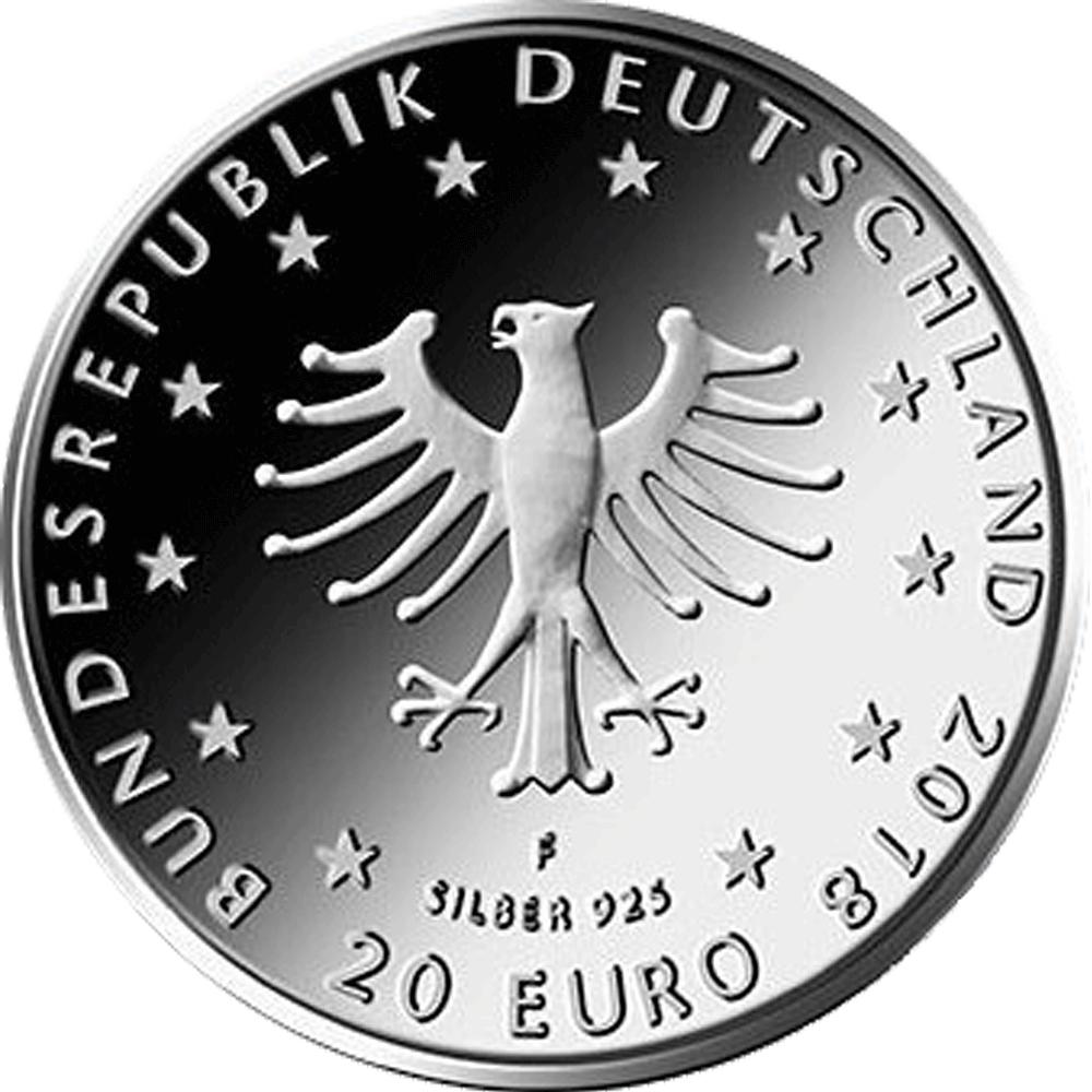 20 Euro Silber Münze Brd 2018 Froschkönig St Münzen Günstigerde