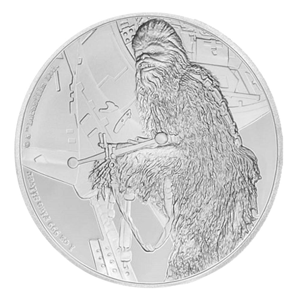 2 Nzd Silbermünze Niue Chewbacca 2017 Pp Münzen Günstigerde