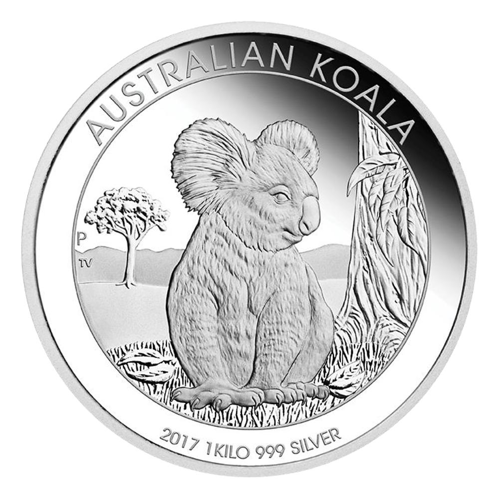 30 Aud 1 Kg Silbermünze Australien Koala 2017 Pp Münzen Günstigerde