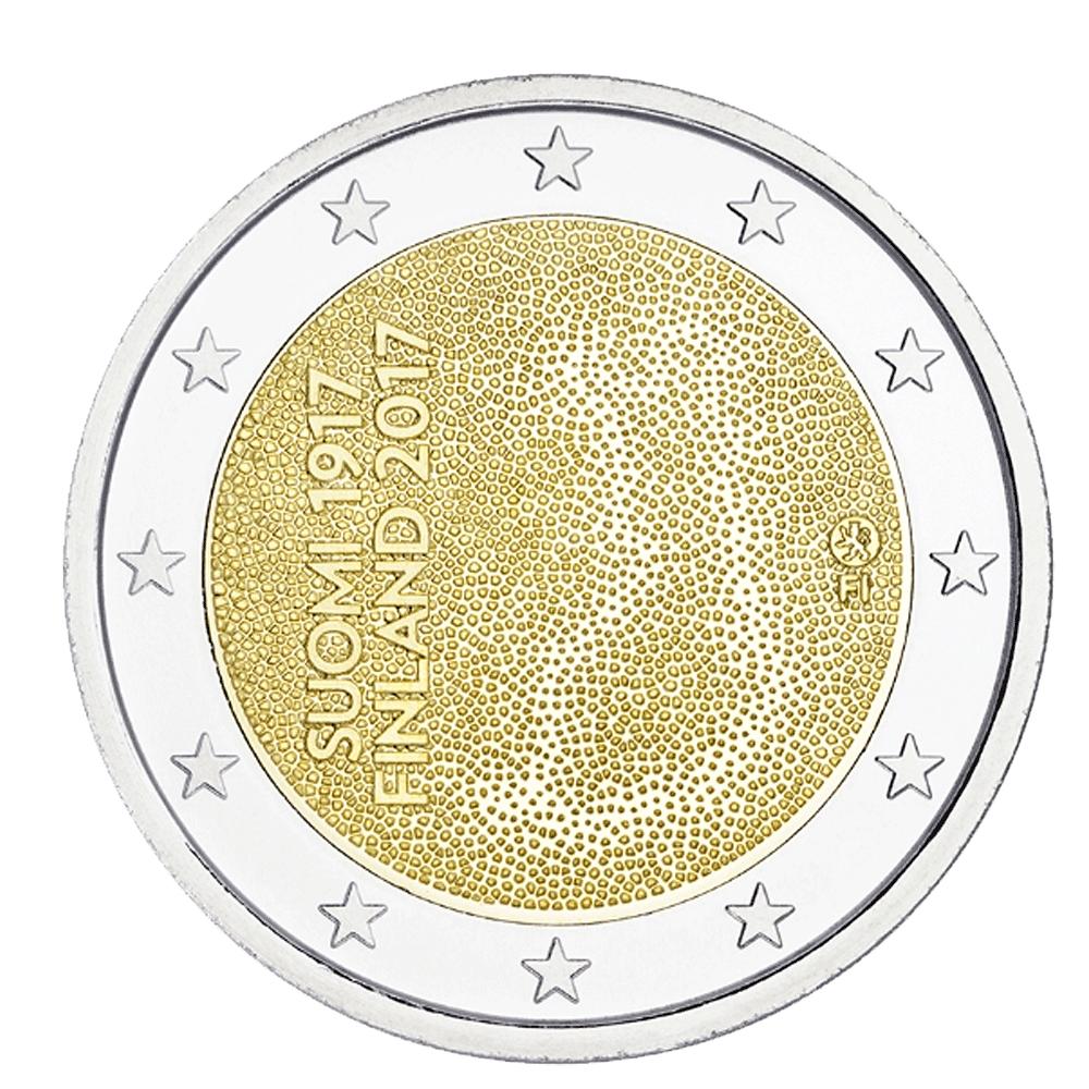 2 Euro Münze Finnland 100 Jahre Unabhängigkeit 2017 Bfr Münzen