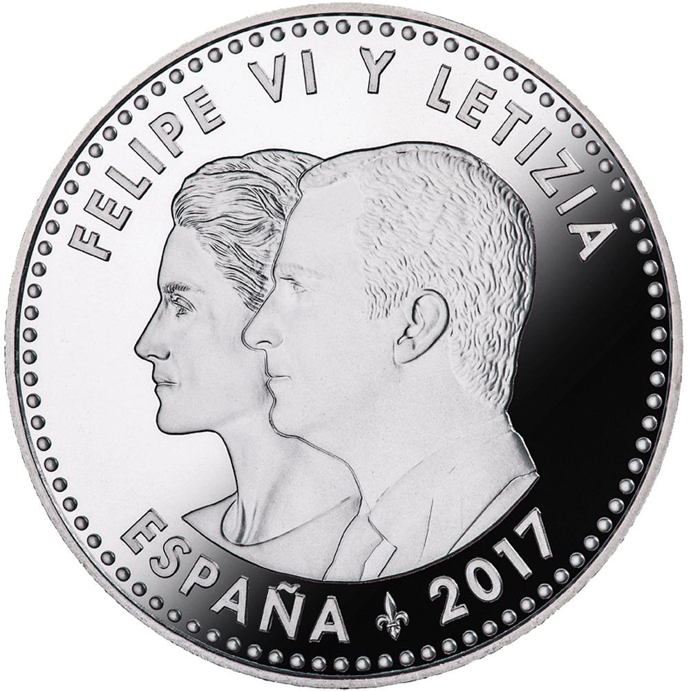 30 Euro Silbermünze Spanien 25 Jahre Vertrag Von Maastricht 2017 St