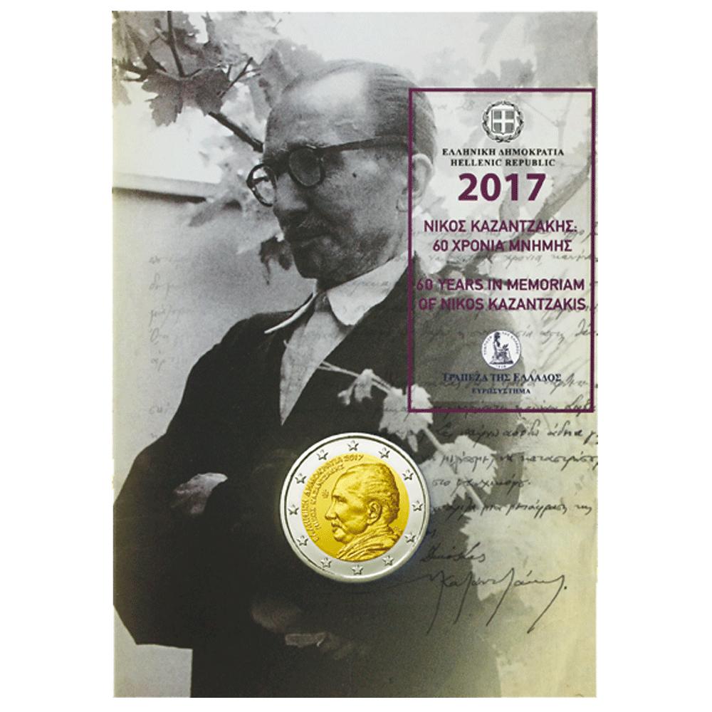 2 Euro Münze Griechenland 60 Todestag Von Nikos Kazantzakis 2017 St
