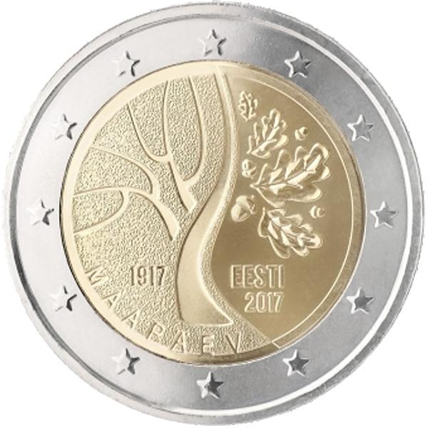 2 Euro Münze Estland Unabhängigkeit 2017 Bfr Münzen Günstigerde