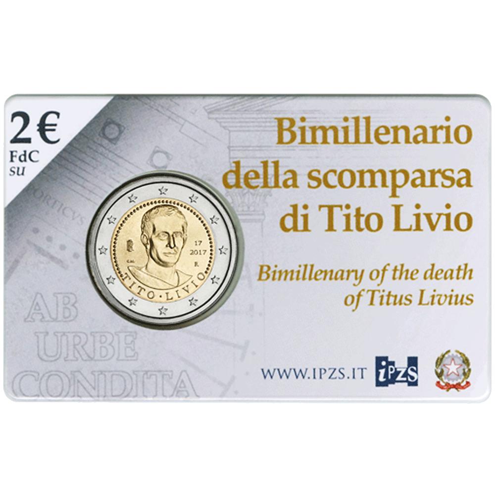 2 Euro Münze Italien 2000 Todestag Von Titus Livius 2017 St