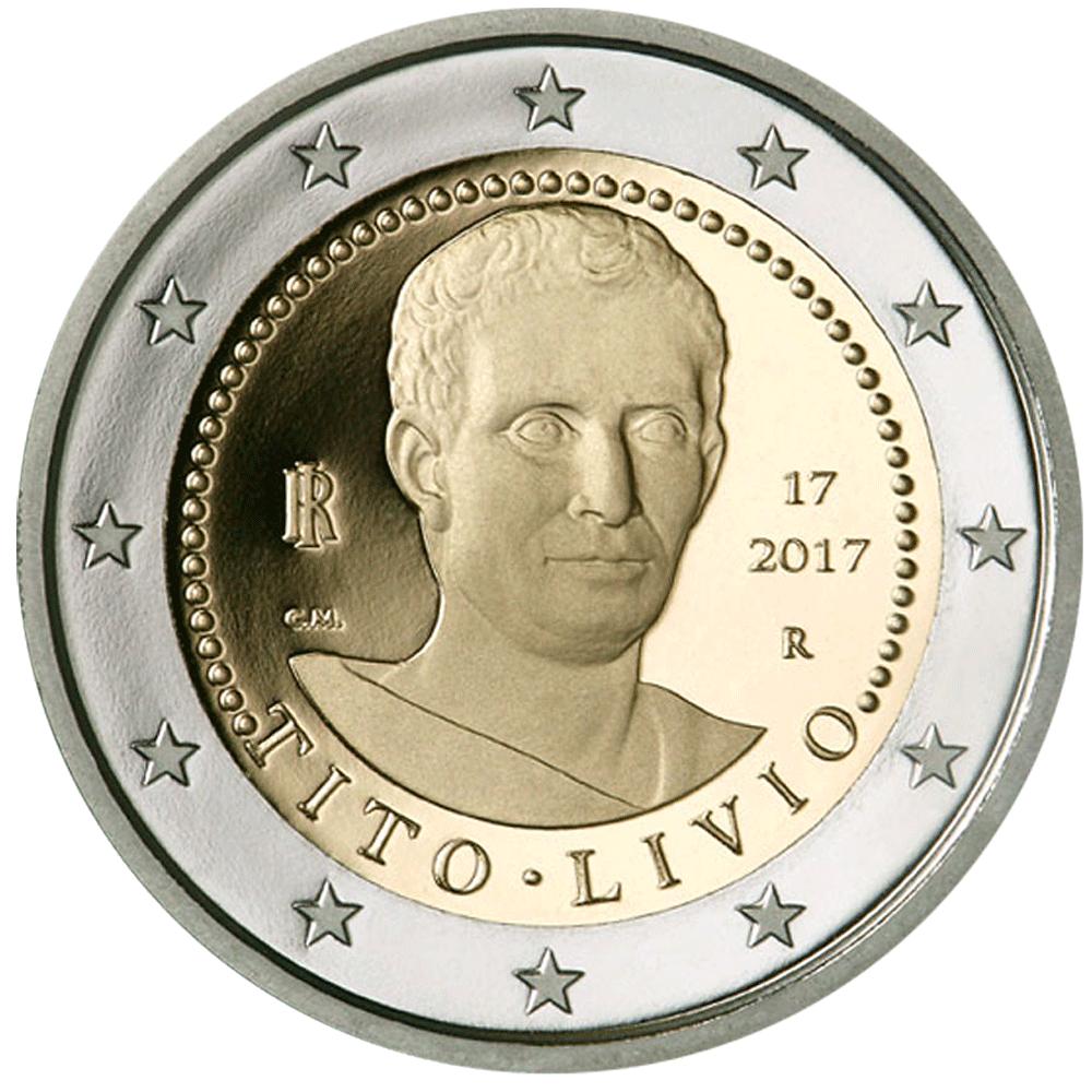 2 Euro Münze Italien 2000 Todestag Von Titus Livius 2017 Bfr
