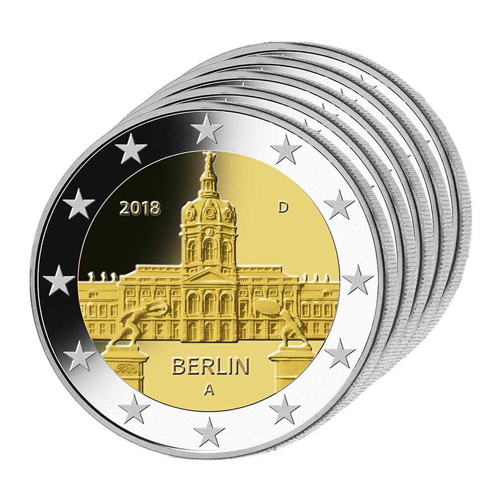 5 X 2 Euro Münzen Berlin Komplettsatz 2018 Pp Münzen Günstigerde