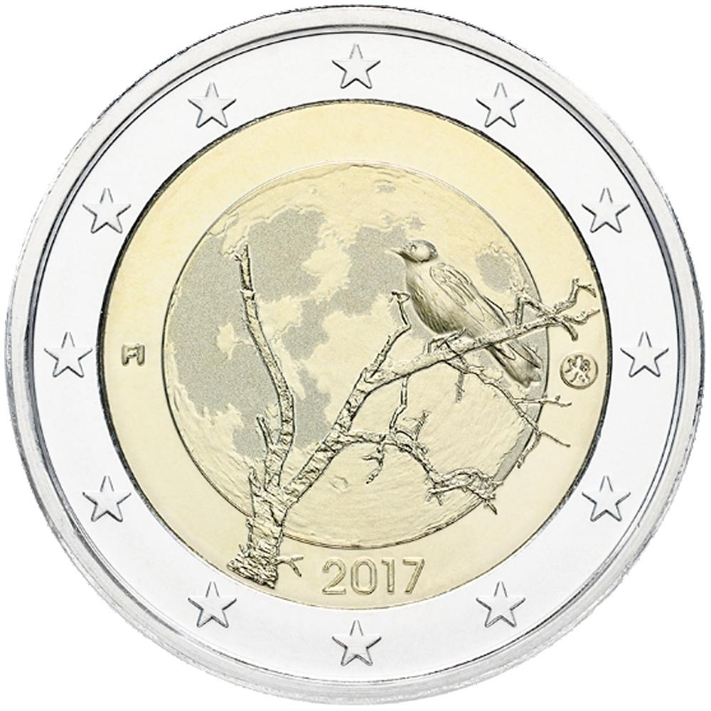 2 Euro Münze Finnland Finnische Natur 2017 Bfr Münzen Günstigerde