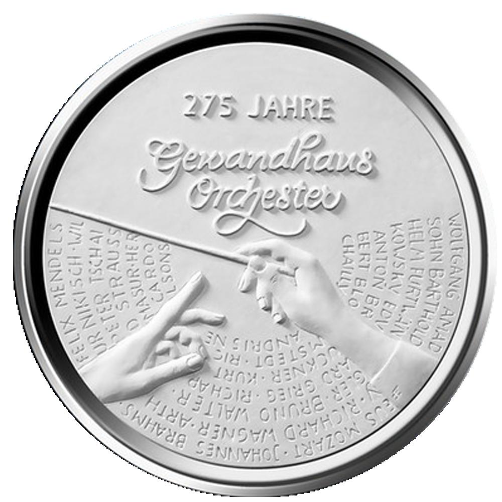 20 Euro Silber Münze Brd 2018 275 Jahre Gewandhausorchester Leipzig