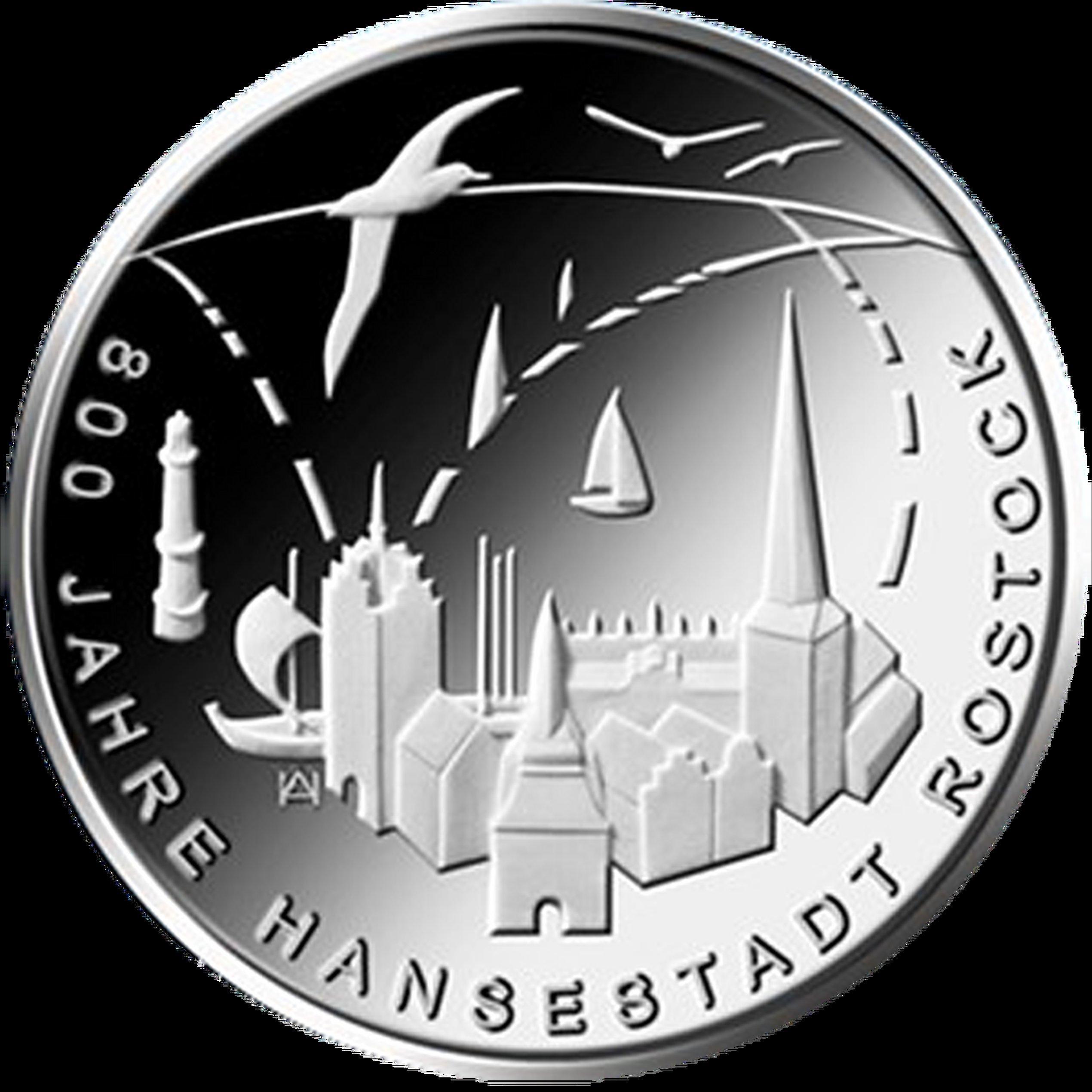 20 Euro Silber Münze Brd 2018 800 Jahre Hansestadt Rostock Pp