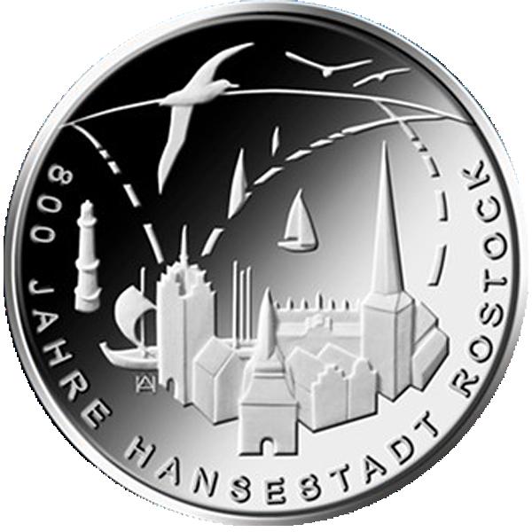 20 Euro Silber Münze Brd 2018 800 Jahre Hansestadt Rostock St