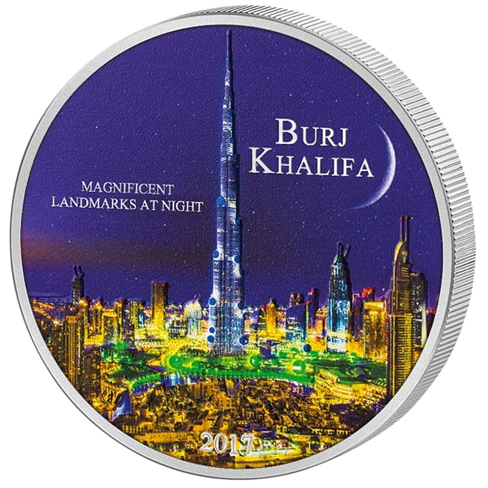 2000 Francs Silbermünze Elfenbeinküste Burj Khalifa 2017 St Münzen