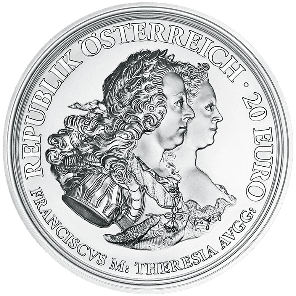20 Euro Silbermünze österreich Maria Theresia Gerechtigkeit Und