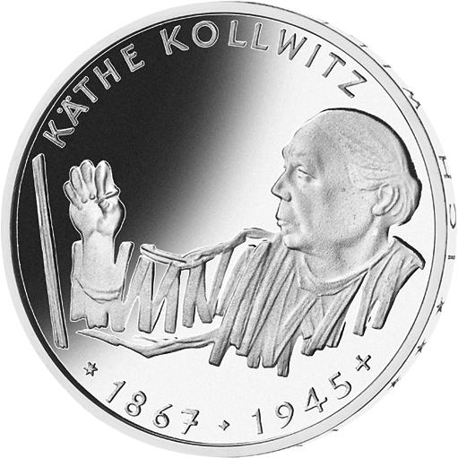 10 Dm Silber Münze Käthe Kollwitz 1992 10 Dm Münzen Dm Münzen