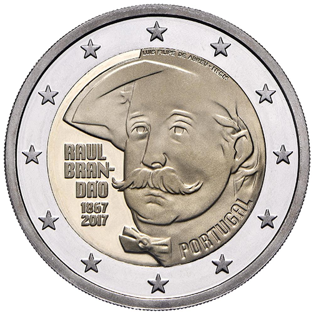 2 Euro Münze Portugal 150 Geburtstag Von Raul Brandão 2017 Cc