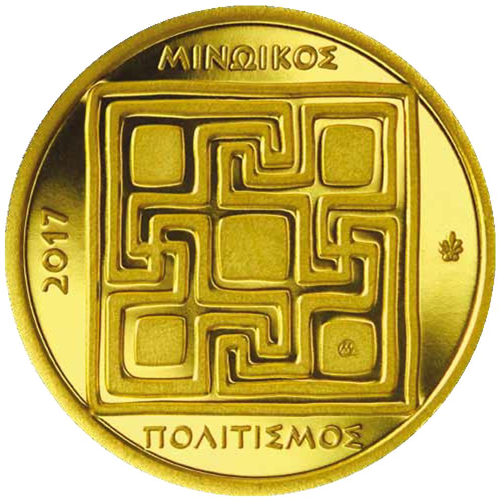 50 Euro Goldmünze Griechenland Minoische Kultur 2017 Pp Münzen