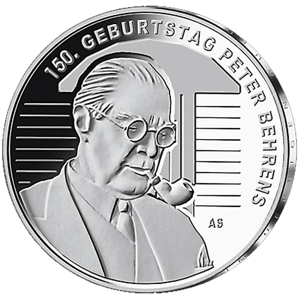 20 Euro Silber Münze Brd 150 Geburtstag Peter Behrens 2018 St