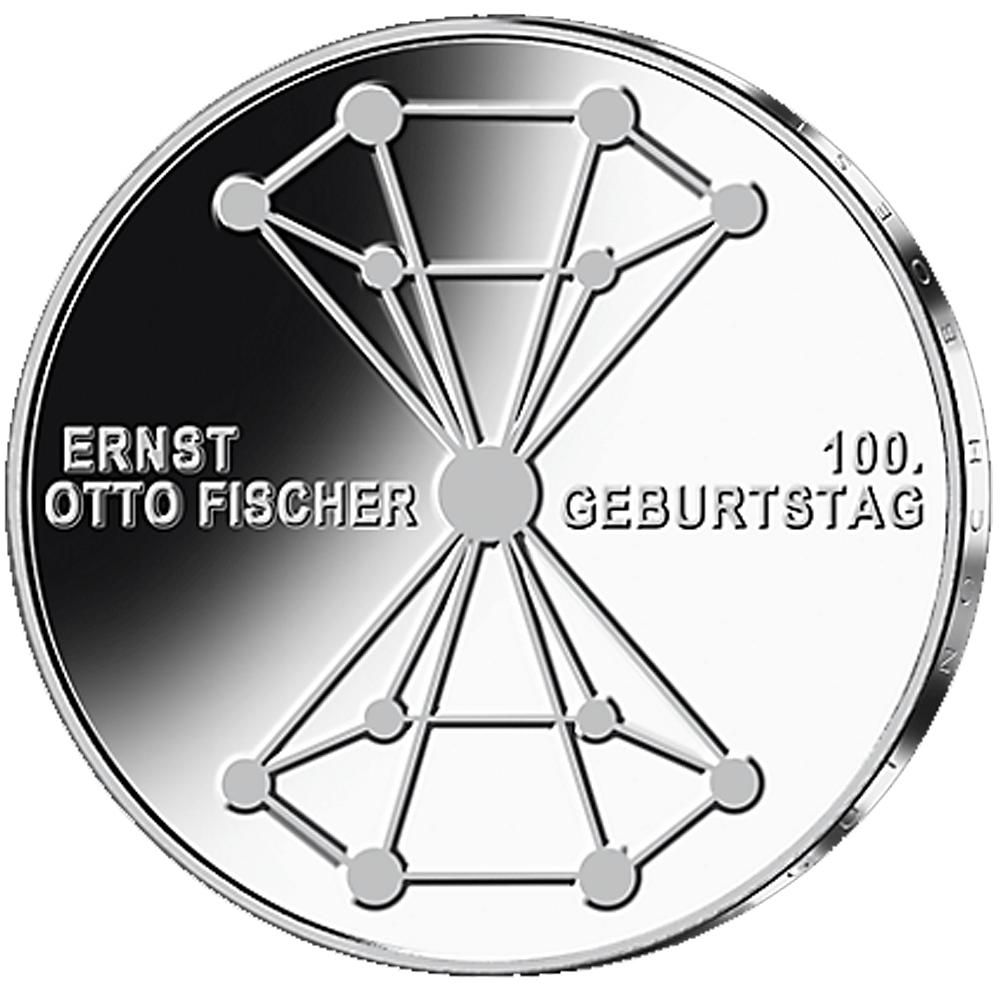 20 Euro Silber Münze Brd 100 Geburtstag Ernst Otto Fischer 2018 St