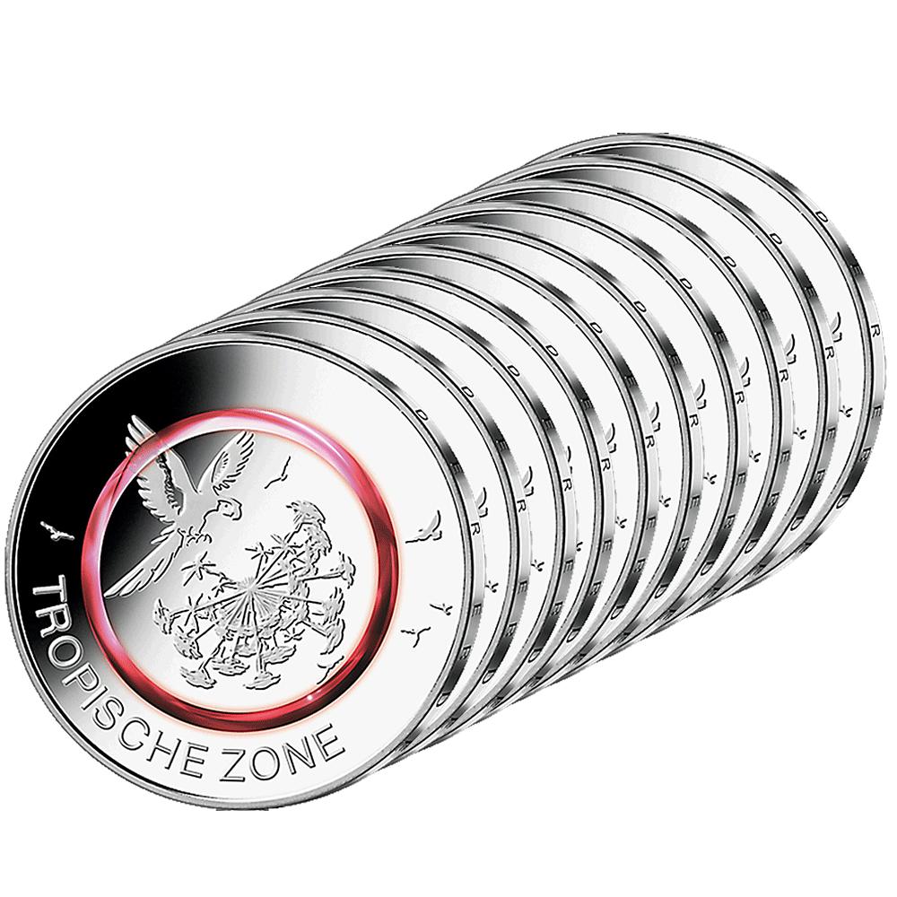10 X 5 Euro Münze Brd Tropische Zone 2017 St Münzen Günstigerde
