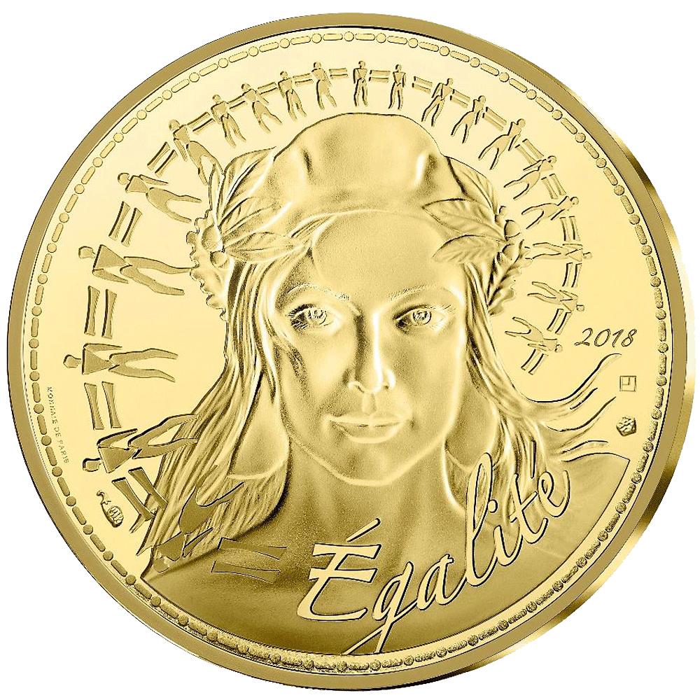 1000 Euro Goldmünze Frankreich Marianne 2017 Bfr Münzen Günstigerde