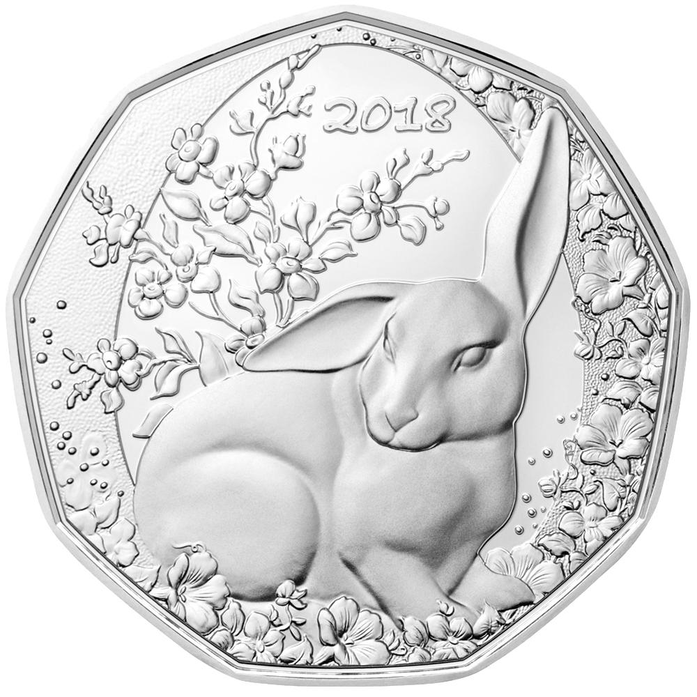 5 Euro Silbermünze österreich Der Osterhase 2018 St Münzen