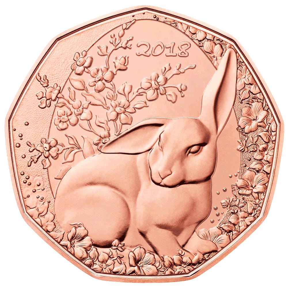 5 Euro Kupfermünze österreich Der Osterhase 2018 Bfr Münzen