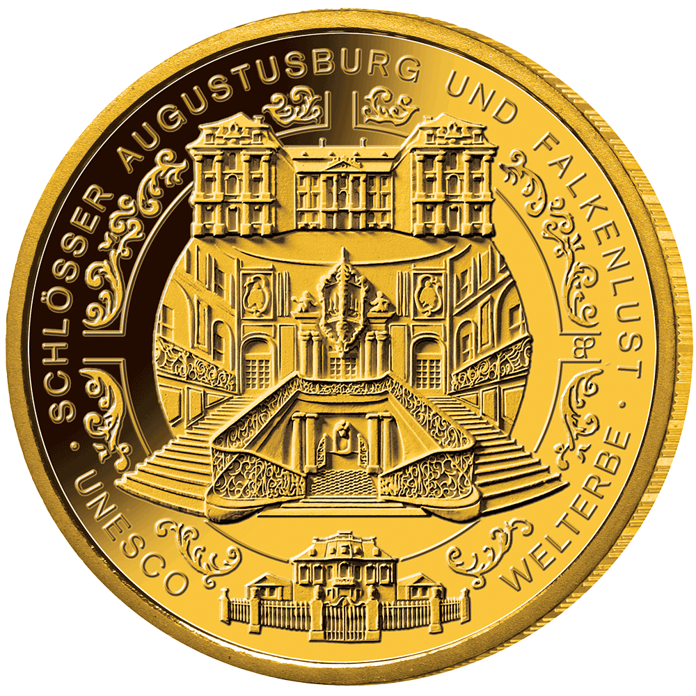 100 Euro Gold Münze Brd Schlösser Augustusburg Und Falkenlust 2018