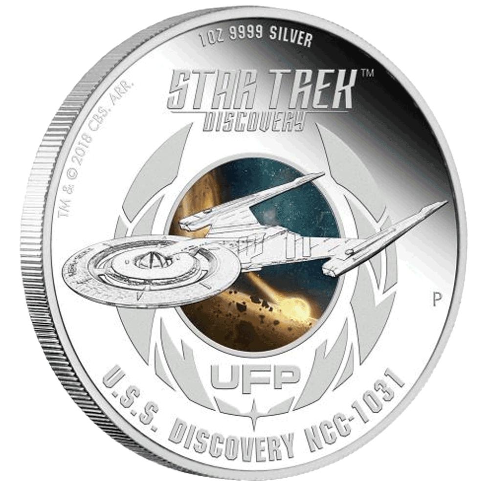 2 X 1 Tvd Silbermünzen Set Tuvalu Star Trek Discovery 2018 Pp