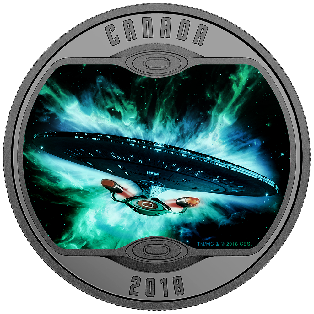 10 Cad Silbermünze Kanada Star Trek The Next Generation 2018 Pp