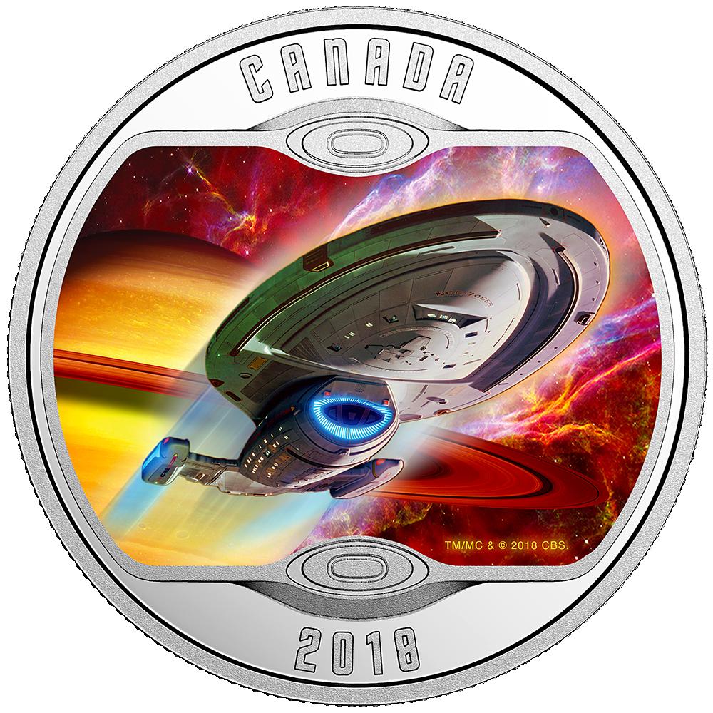 10 Cad Silbermünze Kanada Star Trek Voyager 2018 Pp Münzen