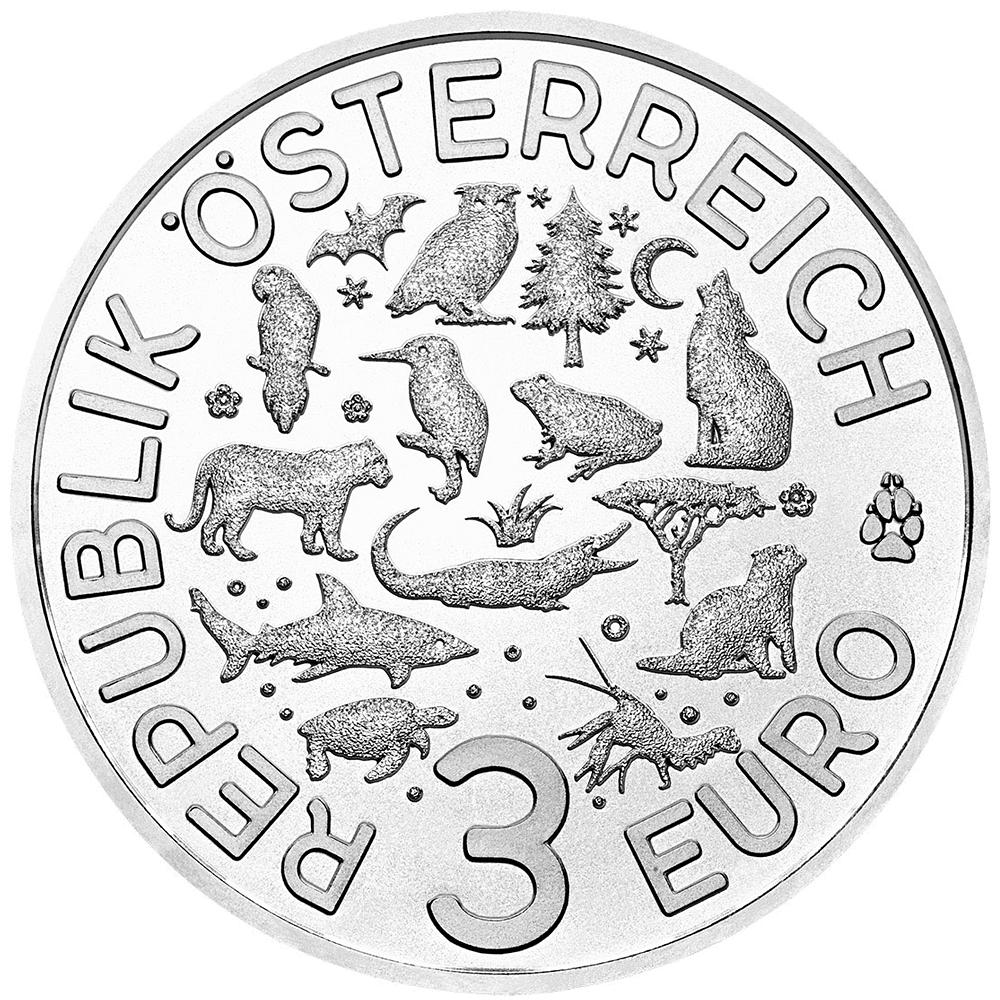 3 Euro Münze österreich Tier Taler Die Eule 2018 Hgh österreich