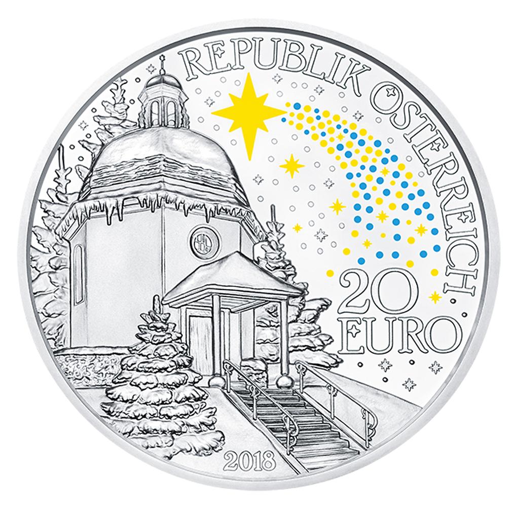 20 Euro Silbermünze österreich 200 Jahre Stille Nacht 2018 Pp