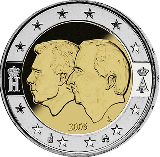 2 Euro ökonomische Union Belgien 2005 Münzen Günstigerde